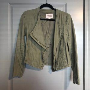 Green Asymmetrical Light Jacket